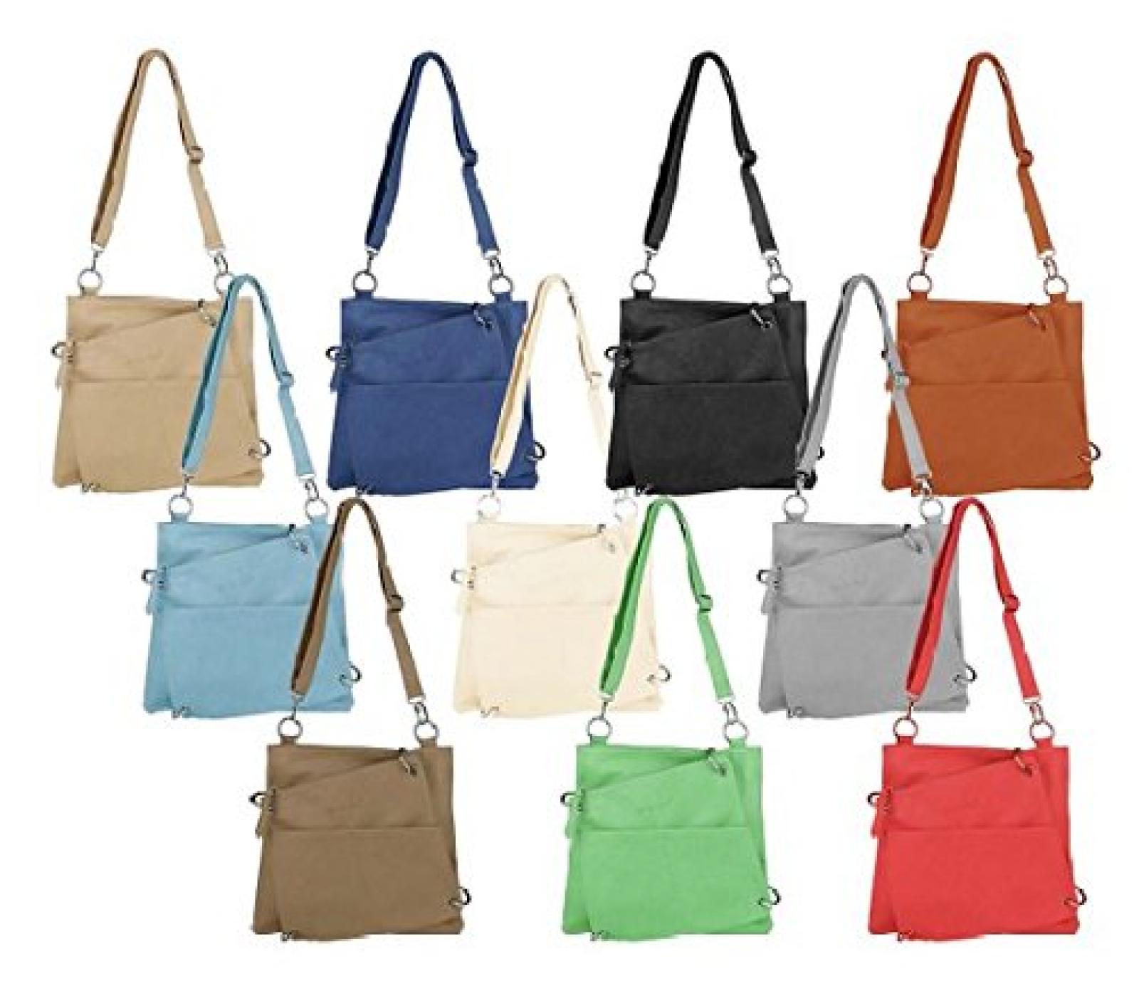 JENNIFER JONES 3900 Damen Tasche, Umhängetasche 2 in 1 in 6 Farben 34x31x5