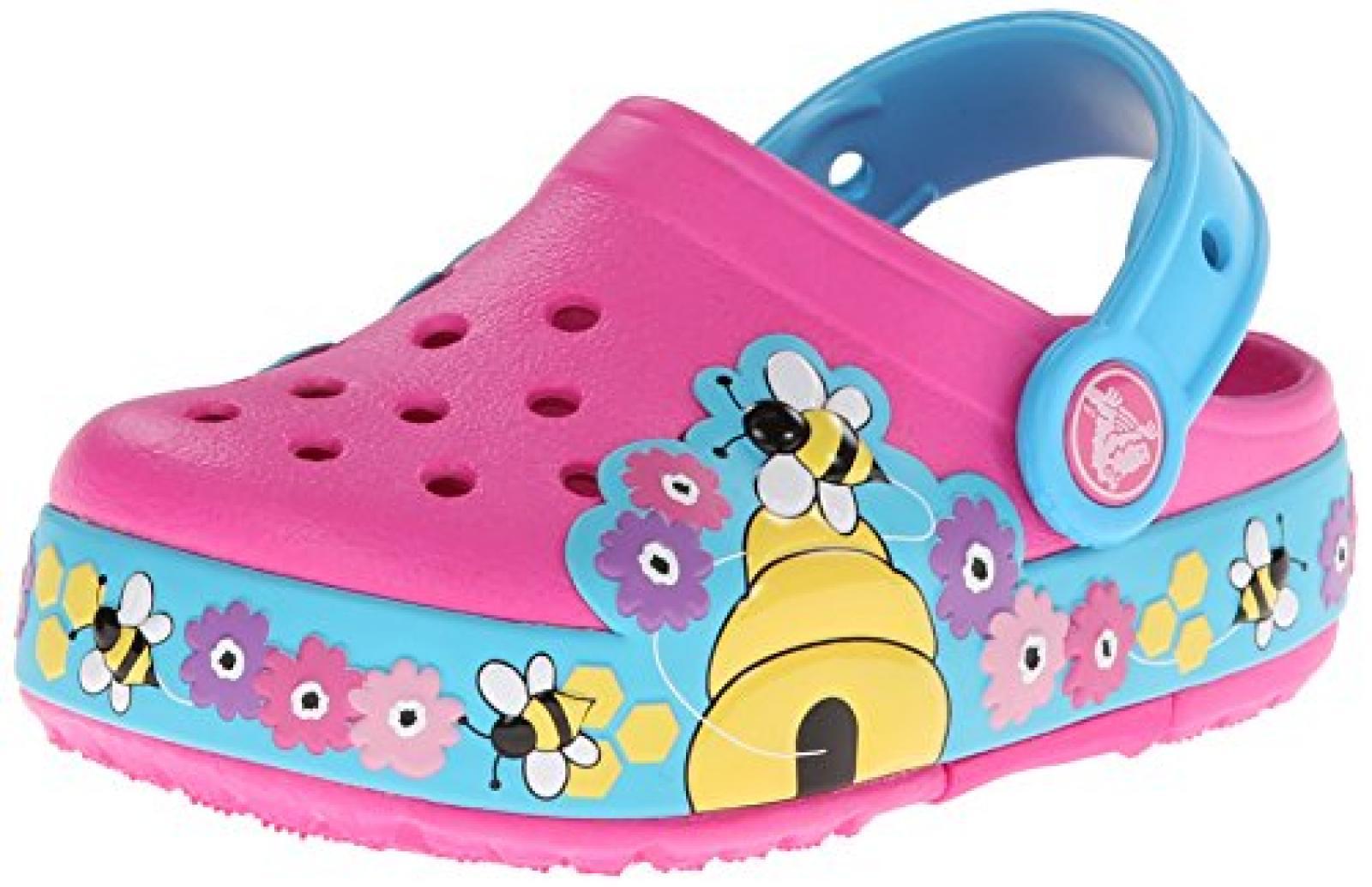 crocs CLightBusyBeePS Mädchen Durchgängies Plateau Ballerinas
