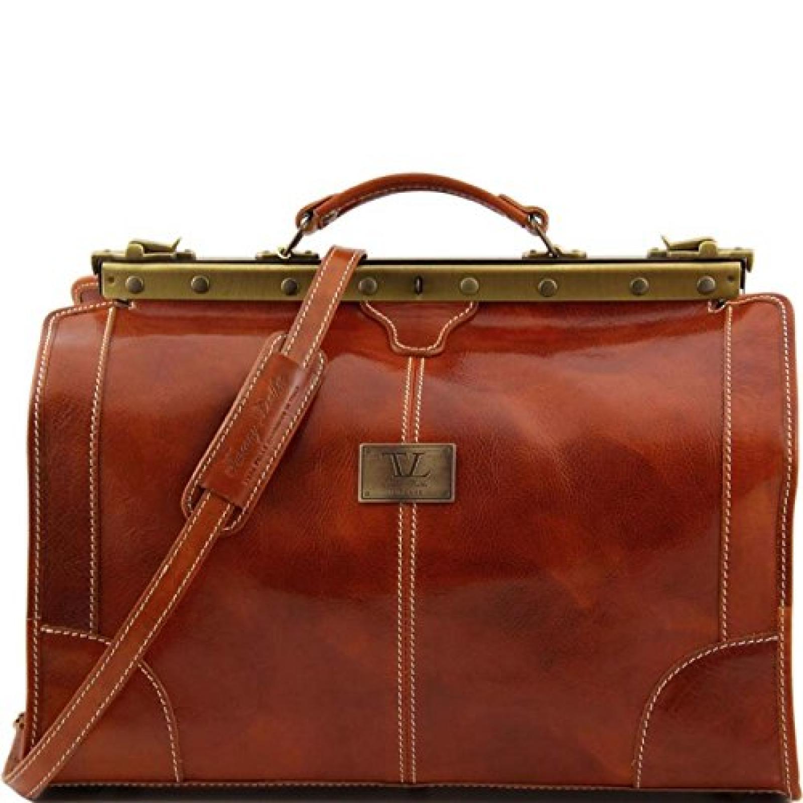 Tuscany Leather - Madrid - Maulbügelreisetasche aus Leder - Klein Honig - TL1023/3
