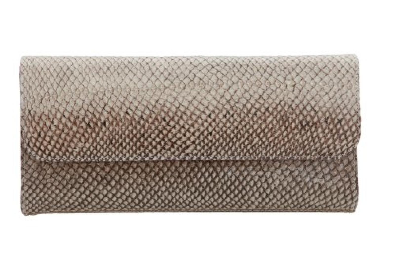 Londine Abendtasche + Clutch Mayreau mit Magnetverschluß und Schulterkette, aus Lachsleder, Größe (BxHxT): 25cm x 12cm x 4cm
